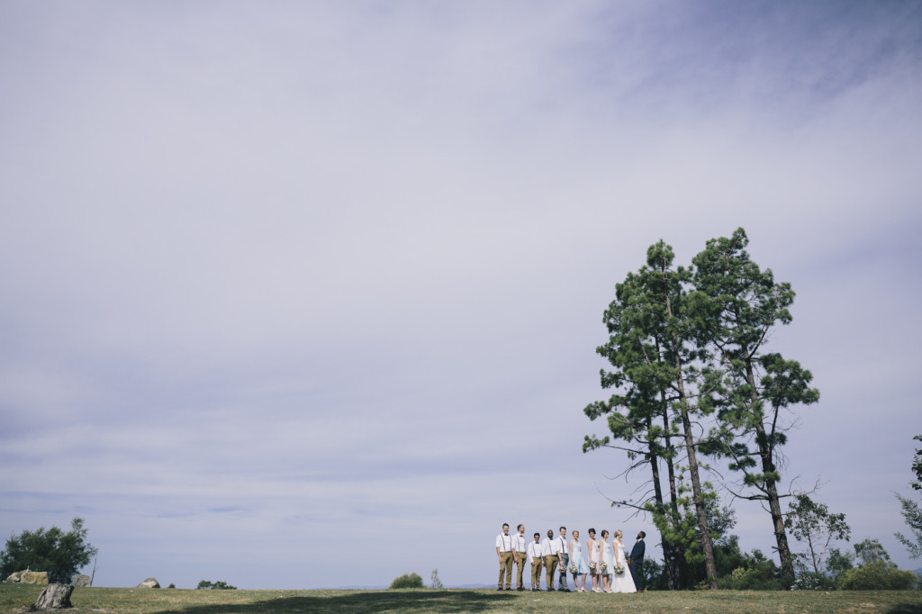 Canberra-wedding-photographer-videographer-mt-stromlo-ruins-australia-trees-bridal-party-hipster
